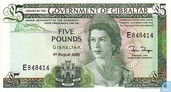Gibraltar 5 Pounds 1988
