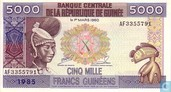 Guinea 5 000 Guinean Francs