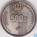 "België 500 francs 1990 (NLD) ""60th Birthday of King Baudouin"""