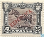 Zebra, with double overprint