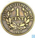 Danish West Indies 1 cent 1883