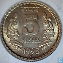 India 5 rupees 1993 (Mumbai)