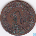German Empire 1 pfennig 1876 (B)