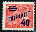 Postage stamp from 1920-1925 with overprint