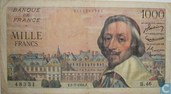 France 1000 Francs Richelieu1954