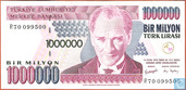 Turquie 1 Million Lira ND (2002/L1970)