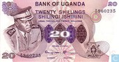 Ouganda 20 Shillings ND (1973)