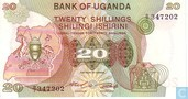 Ouganda 20 Shillings ND (1982)