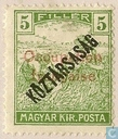 Wheat harvesting, with double overprint