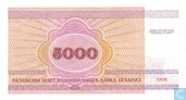 Bankbiljetten - Belarus National Bank - Wit Rusland 5000 Roebel