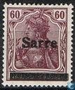 Overprint on German stamps