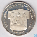 "Turquie 5000 lires 1984 (PROOF) ""50th Anniversary of women's Suffrage"""