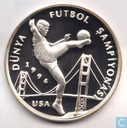 "Turkey 50.000 lira 1994 (PROOF - with white) ""1994 World Cup Soccer"""