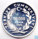 "Turkey 50.000 lira 1995 (PROOF) ""50th Anniversary - F.A.O."""