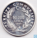 "Turkey 50.000 lira 1995 (PROOF) ""1996 Summer Olympics"""