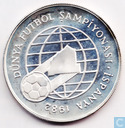 "Turkey 500 lira 1982 (PROOF - coin alignment) ""World Championship Soccer - Madrid"""