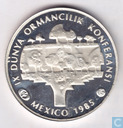 "Turquie 5000 lires 1985 (PROOF) ""Forestry Conference - Mexico"""