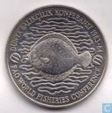 "Turkije 500 lira 1984 (PROOF - koper-nikkel - London Mint) ""World Fisheries Conference"""