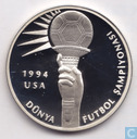 "Turkey 50.000 lira 1994 (PROOF) ""1994 FIFA - Torch"""