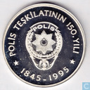 "Turkije 50.000 lira 1995 (PROOF) ""150th Anniversary - National Police"""