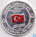 "Coins - Turkey - Turkey 10.000.000 lira 2002 (PROOF - coloured) ""Third Place Worldchampionship Football 2002"""