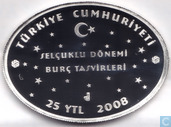 "Turkije 25 yeni türk lirasi 2008 (PROOF) ""Zodiac - Cancer"""