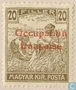 Wheat harvesting, with overprint