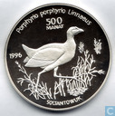 "Turkmenistan 500 manat 1996 (PROOF) ""Endangered Wildlife Series - Purple Swamphen"""