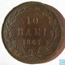 Romania 10 bani 1867 (Watt & Co)