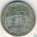 Egypt 2 piastres 1917 (H - without inner circle)