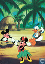 Mickey, Minnie en Donald - Hula dansen