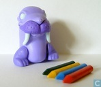 Walrus with chalks