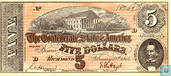 Confederate States of America  5 dollars  1864