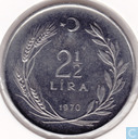 "Turkey 2½ lira 1970 ""F.A.O."""