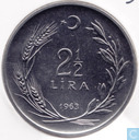Turkey 2½ lira 1963