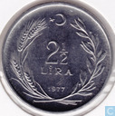 "Turkey 2½ lira 1977 ""F.A.O."""