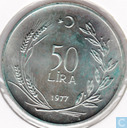"Turkey 50 lira 1977  ""F.A.O."""
