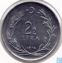 Turkey 2½ lira 1974