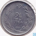Turkey 2½ lira 1960