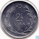Turkey 2½ lira 1971