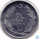 Turkey 2½ lira 1975