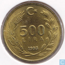 Turkey 500 lira 1993
