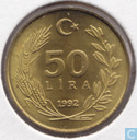 Turkey 50 lira 1992