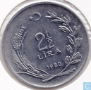 Turkey 2½ lira 1980