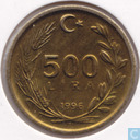 Turkey 500 lira 1996