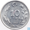 Turkey 10 lira 1983