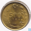 Turkey 500 lira 1991