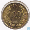 Turkey 100 lira 1992