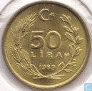 Turkey 50 lira 1989