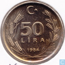 Turkey 50 lira 1984